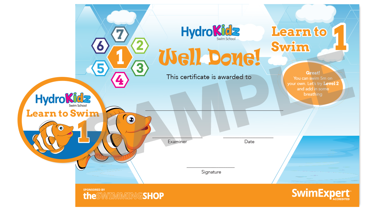 Certificate Learn to Swim 1