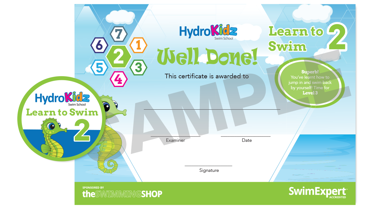 Certificate Learn to Swim 2