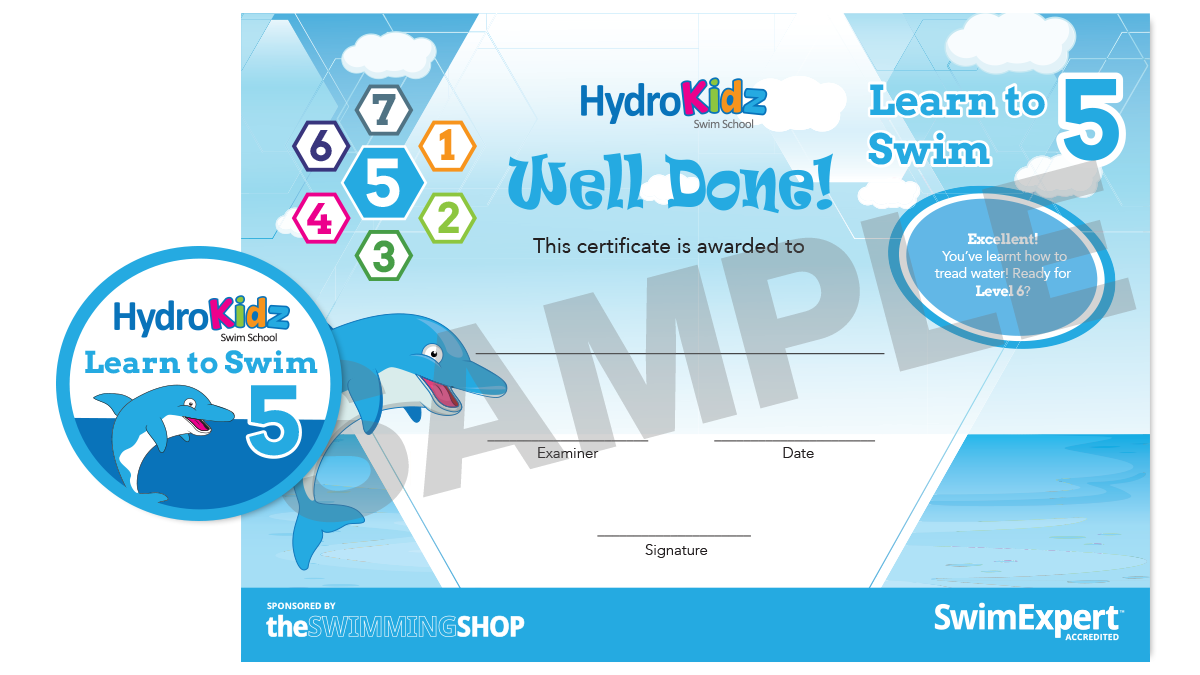 Certificate Learn to Swim 5