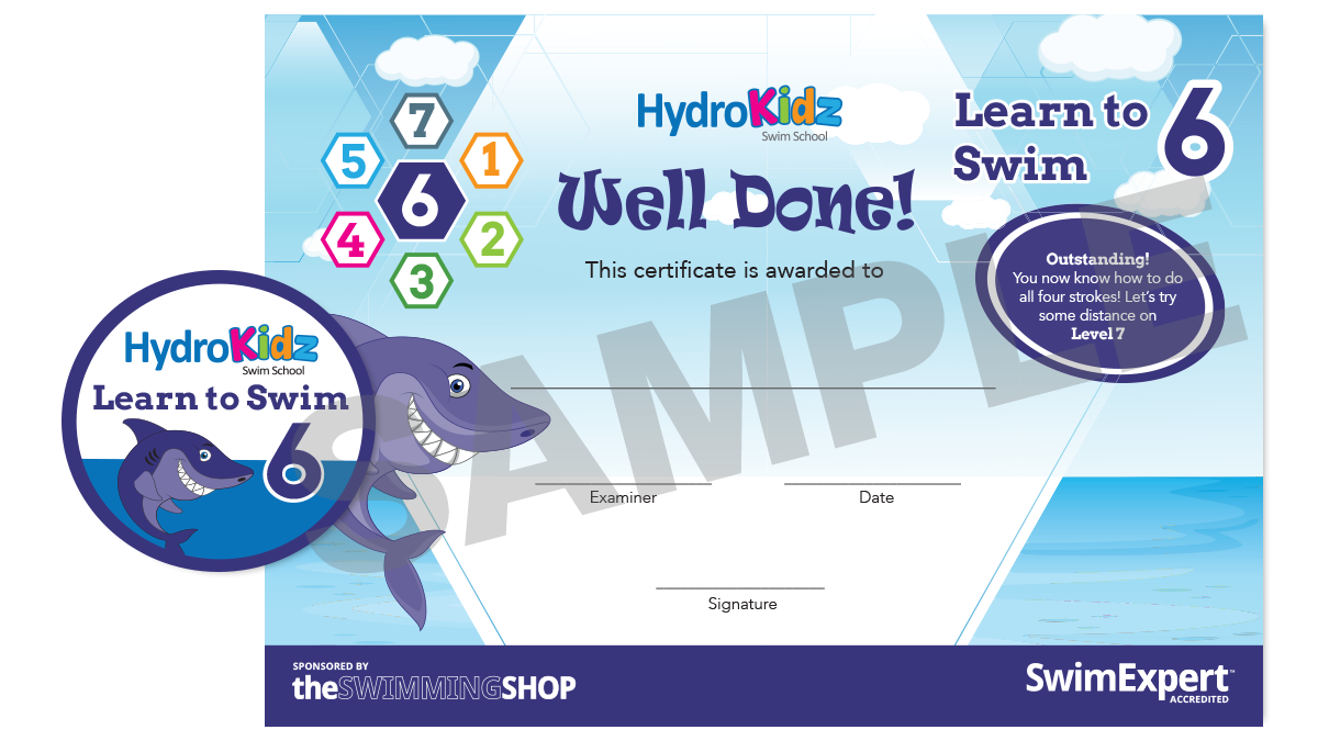 Certificate Learn to Swim 6