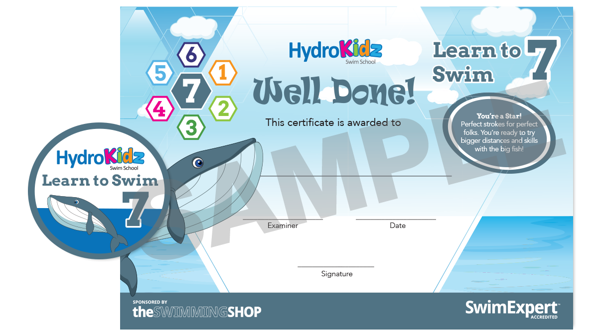 Certificate Learn to Swim 7